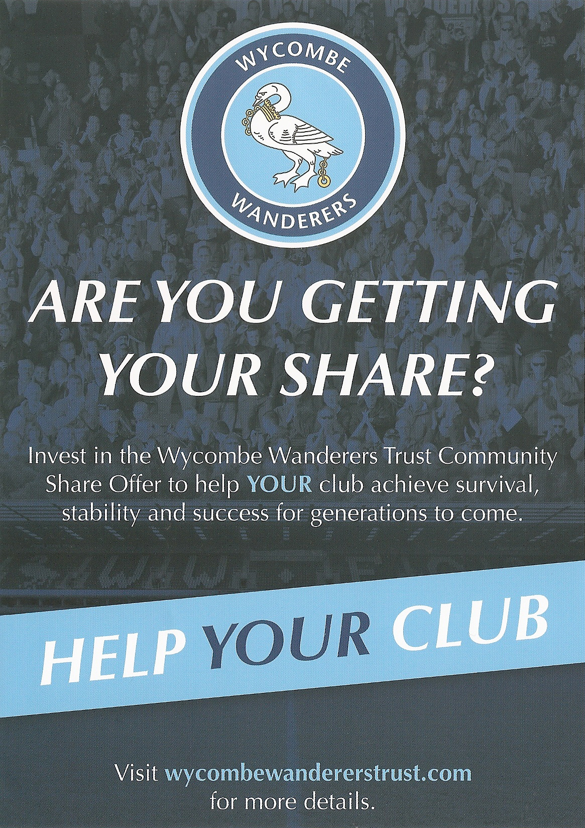many thanks for helping and for your investments into the football club via the share scheme